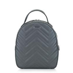 Женский рюкзак с зигзагообразной строчкой, серый, 92-4Y-602-8, Фотография 1