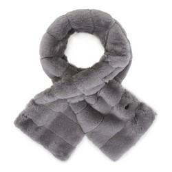 Женский шарф из искусственного меха, серый, 91-7F-007-88, Фотография 1