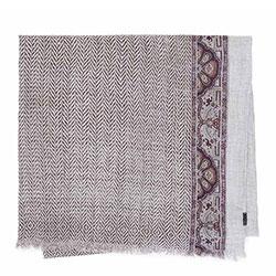 Женский шарф из вискозы и шерсти в елочку |, серый, 83-7D-X08-X01, Фотография 1