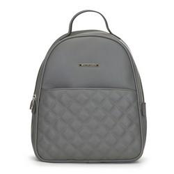 Женский стеганый рюкзак, серый, 91-4Y-705-8, Фотография 1
