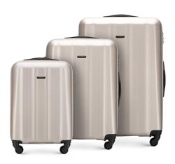 Комплект чемоданов, шампанское, 56-3P-11S-86, Фотография 1
