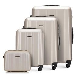 Комплект текстурных чемоданов из поликарбоната, шампанское, 56-3P-11K-86, Фотография 1