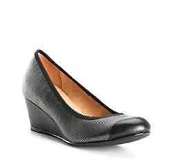 Damenschuhe, silber-schwarz, 83-D-601-8-38, Bild 1
