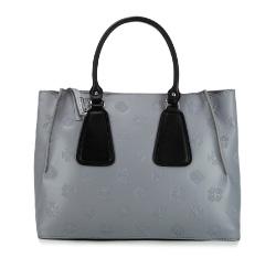Damentasche, silber-schwarz, 85-4E-006-81, Bild 1