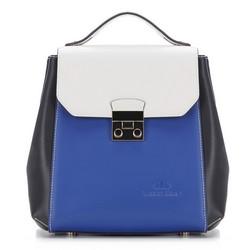 Рюкзак женский, сине-белый, 87-4E-227-X2, Фотография 1