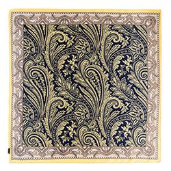 Женский шейный платок, сине - бежевый, 90-7D-S14-X4, Фотография 1