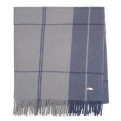 Мужской классический широкий шарф, сине-голубой, 92-7D-X91-7, Фотография 1