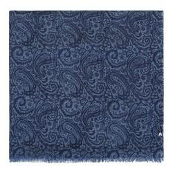 Женский шерстяной шарф с рисунком, сине-голубой, 91-7D-X02-7, Фотография 1
