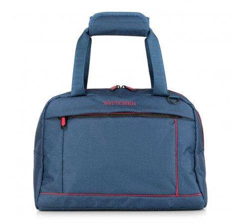 Дорожная сумка, сине - красный, 56-3S-468-12, Фотография 1