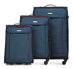 Комплект чемоданов, сине - красный, 56-3S-46S-91, Фотография 1
