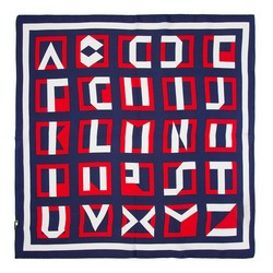 Шелковый платок, сине - красный, 93-7D-S01-33, Фотография 1