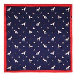 Женский шейный платок, сине - красный, 90-7D-S14-X13, Фотография 1