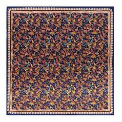 Женский шелковый шарф, сине-зеленый, 91-7D-S40-X1, Фотография 1