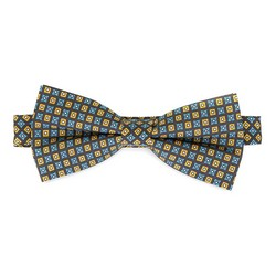 Галстук-бабочка шелковый к костюму, сине-желтый, 92-7I-001-X1, Фотография 1