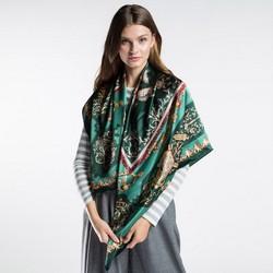 Damen Schal, smaragdgrün, 86-7D-S31-X03, Bild 1