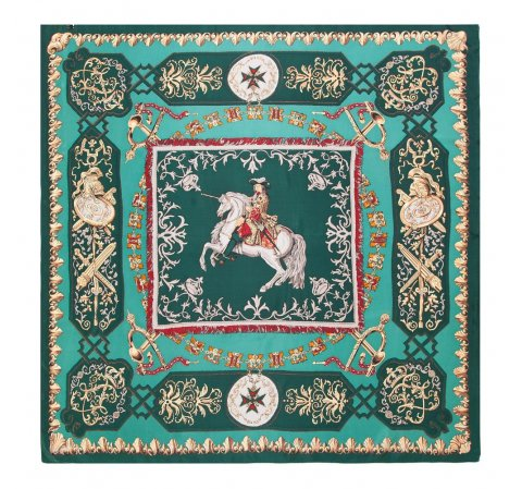 Damen Schal, smaragdgrün, 86-7D-S31-X01, Bild 1