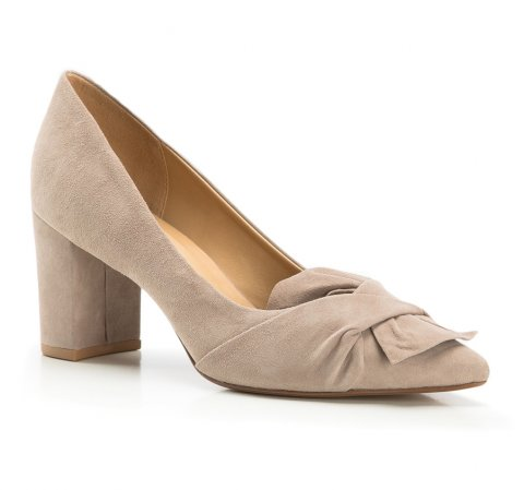 Női cipő, sötét bézs, 86-D-709-1-37, Fénykép 1