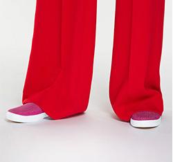 Női cipő, sötét rózsaszín, 86-D-702-2-37, Fénykép 1