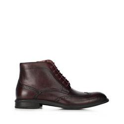 férfi bőrmagasszárú cipő, sötét vörös, 91-M-910-2-45, Fénykép 1