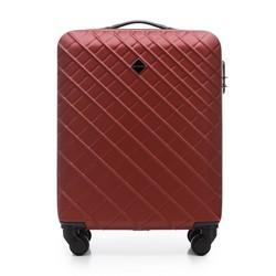 ABS kis bőrönd ferde rácsos, sötét vörös, 56-3A-551-31, Fénykép 1