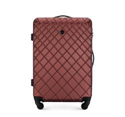 ABS közepes bőrönd ferde ráccsal, sötét vörös, 56-3A-552-31, Fénykép 1