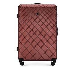 ABS nagy bőrönd ferde ráccsal, sötét vörös, 56-3A-553-31, Fénykép 1
