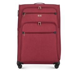Nagy bőrönd színes cipzárral, sötét vörös, 56-3S-503-31, Fénykép 1