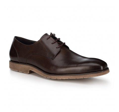 Férfi cipő, sötétbarna, 88-M-808-4-45, Fénykép 1