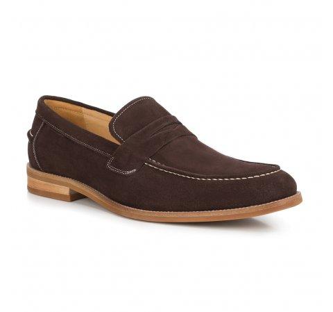 Férfi cipő, sötétbarna, 88-M-817-4-40, Fénykép 1