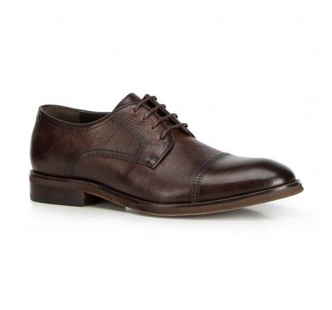 Férfi cipők, sötétbarna, 90-M-514-4-39, Fénykép 1