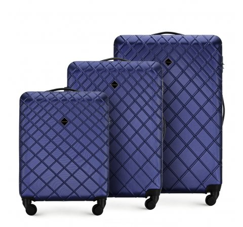 ABS bőröndszett Classic kollekcióból, sötétkék, 56-3A-55S-31, Fénykép 1