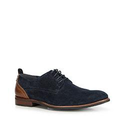 Férfi cipők, sötétkék-barna, 90-M-507-7-39, Fénykép 1