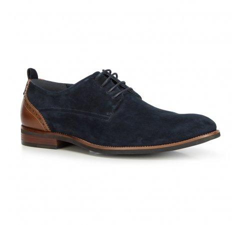 Férfi cipők, sötétkék-barna, 90-M-507-7-45, Fénykép 1