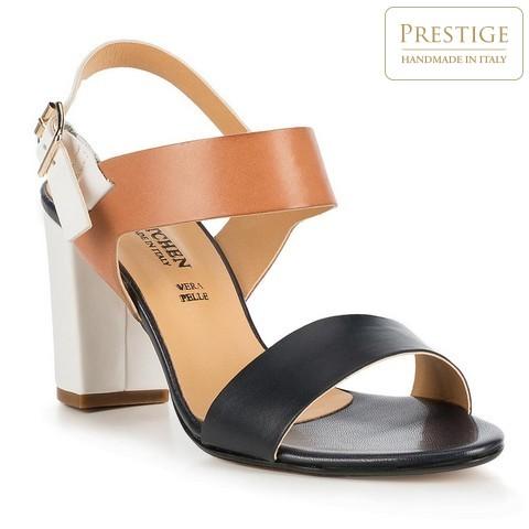 Női cipő, sötétkék-barna, 86-D-403-7-41, Fénykép 1