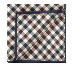 Díszzsebkendő, sötétkék-barna, 85-7P-X01-X8, Fénykép 1