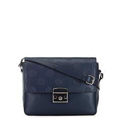 Bőr fedő táska, sötétkék, 91-4E-609-7, Fénykép 1