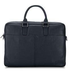 Üzleti bőrtáska egyszerű, sötétkék, 91-3U-302-7, Fénykép 1