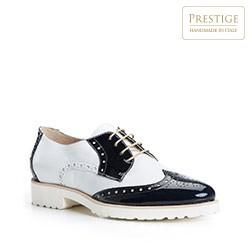 Női cipő, sötétkék és fehér, 84-D-105-7-39_5, Fénykép 1