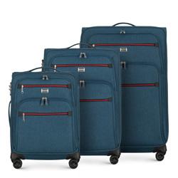 Bőröndszettek, sötétkék, 56-3S-50S-90, Fénykép 1