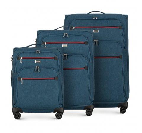 Bőröndszettek, sötétkék, 56-3S-50S-30, Fénykép 1