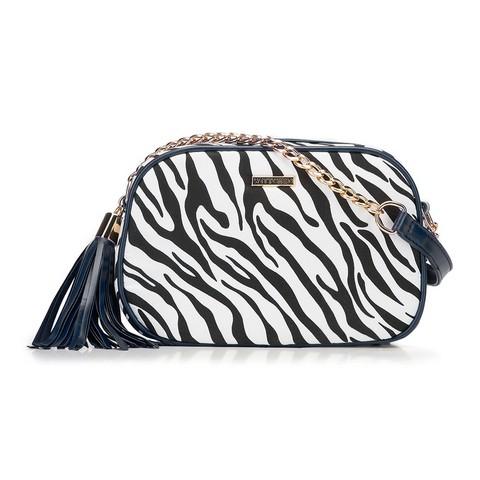 Női táska, sötétkék és fehér, 89-4Y-300-X2, Fénykép 1