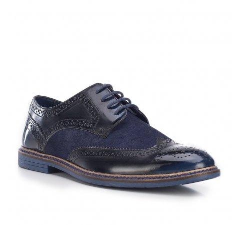 Férfi cipő, sötétkék-fekete, 87-M-853-7-44, Fénykép 1