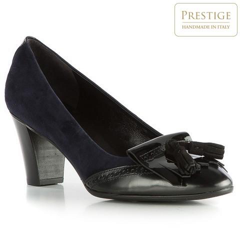 Női cipő, sötétkék-fekete, 83-D-113-7-35, Fénykép 1