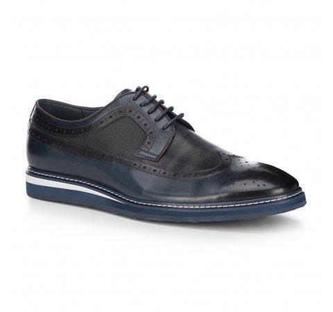 Férfi cipő, sötétkék, 88-M-807-7-41, Fénykép 1