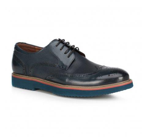 Férfi cipő, sötétkék, 89-M-916-7-40, Fénykép 1