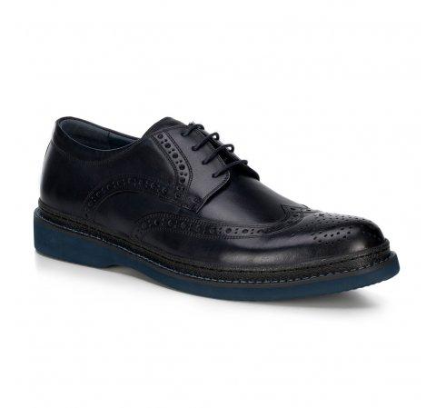 Férfi cipő, sötétkék, 89-M-502-7-41, Fénykép 1