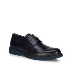 Férfi cipő, sötétkék, 89-M-502-7-40, Fénykép 1