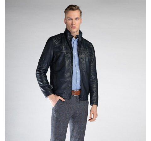 Férfi kabát, sötétkék, 90-09-250-4-XL, Fénykép 1
