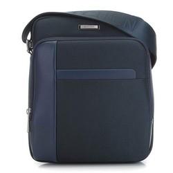 Férfi közepes postás táska, sötétkék, 91-4U-201-7, Fénykép 1