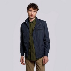 Férfi széldzseki kabát rejtett cipzárral, sötétkék, 92-9N-450-7-XL, Fénykép 1